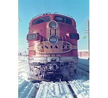 Santa Fe F7 A Unit  Photographic Print