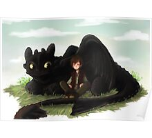 Toothless and Hiccup- HTTYD Poster