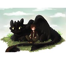Toothless and Hiccup- HTTYD Photographic Print