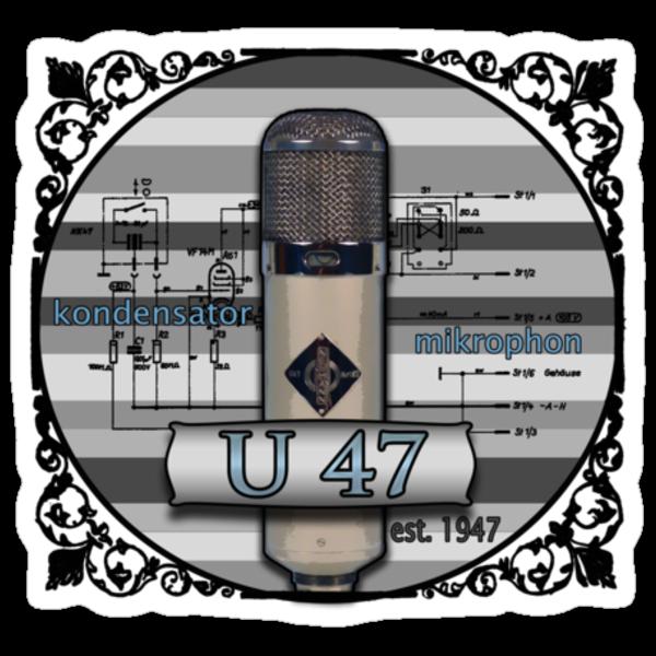 Classic - Neumann U47 Vintage Microphone by AudioEscapades