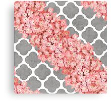 hydrangea and gray clover Canvas Print