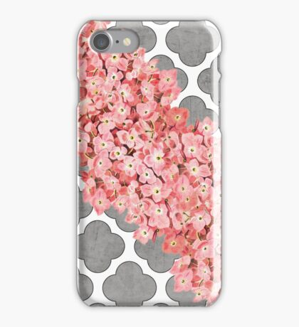 hydrangea and gray clover iPhone Case/Skin