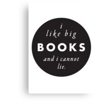 Big Books Love Canvas Print