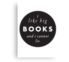 Big Books Love Canvas Print