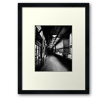Small Town Station Framed Print