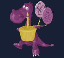 Cute Dragon Cupcake And Balloons One Piece - Long Sleeve