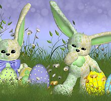 Easter Bunny Children's Wall Art by Moonlake