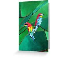 Brightly Colored European Bee-eaters Greeting Card