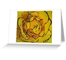 Golden rose in style Greeting Card