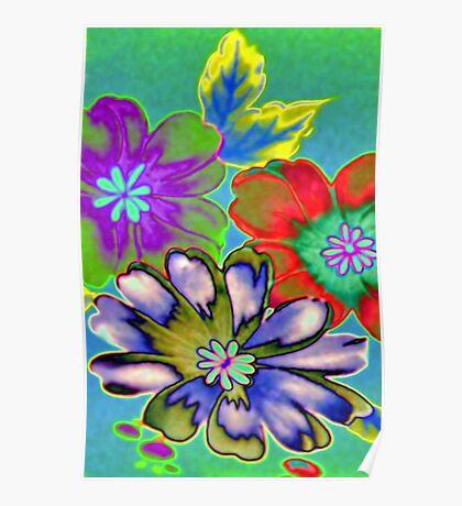 Foil Flowers Poster