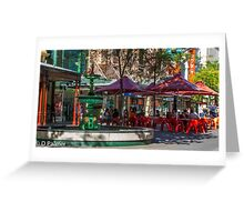 Rundle Mall - Fountain and Cafe Greeting Card