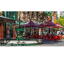 Rundle Mall - Fountain and Cafe Photographic Print