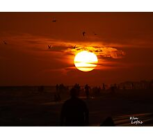 Zombie sunset  Photographic Print