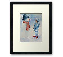 Snow Friends Framed Print
