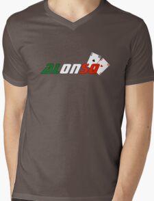 Fernando Alonso (Italian colours) Mens V-Neck T-Shirt