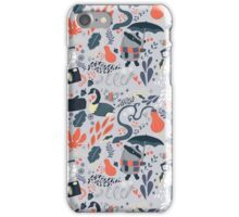 Badger Autumn Pattern iPhone Case/Skin