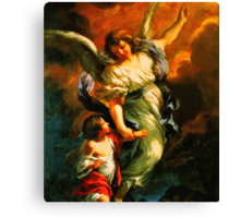 Heiliger Schutzengel Guardian Angel 4 enhanced Canvas Print