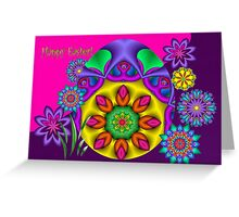 Fractal Easter with Text Greeting Card