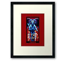 Tarot Devil Red Framed Print
