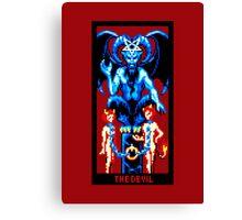 Tarot Devil Red Canvas Print