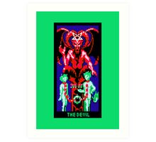 Tarot Devil Green Art Print