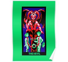 Tarot Devil Green Poster