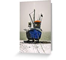 Snow fishing Greeting Card