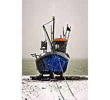 Snow fishing Photographic Print