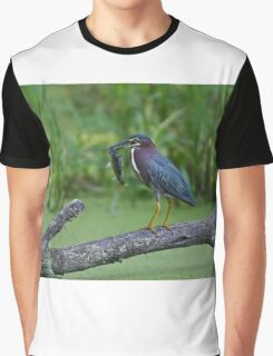 Green Heron wins local fishing contest! Graphic T-Shirt