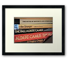 The Pages of Camus Framed Print