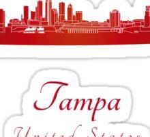 Tampa skyline in red Sticker