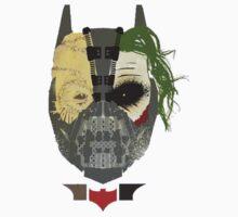 Batman, Scarecrow, Joker, Bane by reversesquats