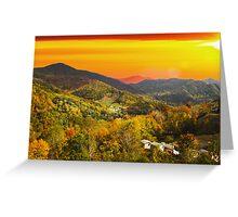 Mountain Life at Sundown Greeting Card