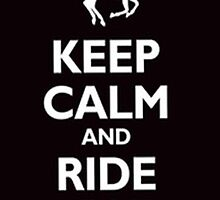 Keep calm and ride on -iphone case by ksully