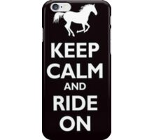 Keep calm and ride on -iphone case iPhone Case/Skin