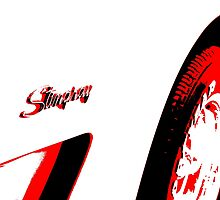 Stingray - Black White And Red Series by Betty Northcutt