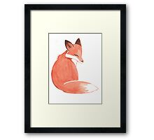 Watercolor Fox Framed Print