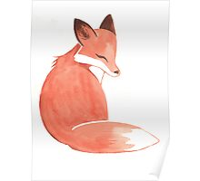 Watercolor Fox Poster