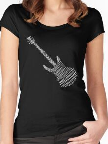 Guitar Sketch  Women's Fitted Scoop T-Shirt