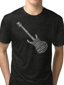 Guitar Sketch  Tri-blend T-Shirt