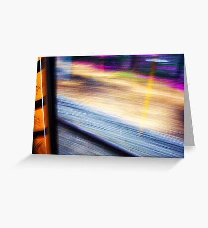 Train From Window - 11 03 13 Greeting Card