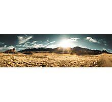 Wide Angle Sun Set Photographic Print