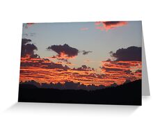 Aegean Sunset Greeting Card