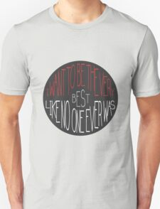 """""""I want to be the very best"""" - Pokemon Pokeball Quote Unisex T-Shirt"""