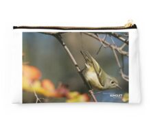 Ruby-crowned Kinglet - Hardcover Journal Cover Studio Pouch