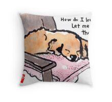 A Poet's Dog Throw Pillow