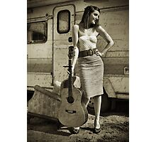 Indie Pin Up Photographic Print