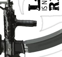Love Is Never Having To Reload AR-15 Sticker