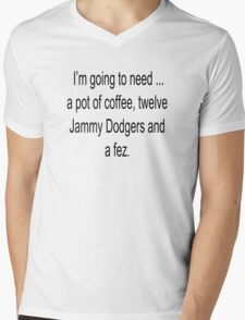 12 Jammie Dodgers and a Fez Mens V-Neck T-Shirt