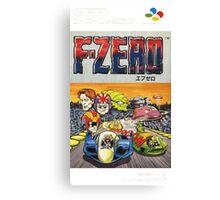 F-Zero Nintendo Famicom Box Art (NES) Canvas Print